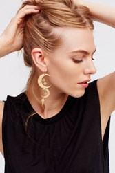 Free People Womens Mixed Moons Earrings