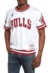 Mitchell And Ness Men's 'Chicago Bulls' Authentic Mesh Warm Up Jersey White