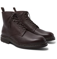 Heschung Hetre Shearling Lined Leather Boots Burgundy