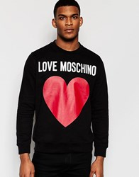 Love Moschino Love Moschion Sweater Large Heart Logo Black