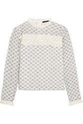 W118 By Walter Baker Mindy Embroidered Cotton Lace Top Ivory