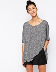 Wal G Knit T Shirt With Lace Back Grey