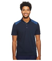 Perry Ellis Color Block Jacquard Polo Dark Sapphire Clothing Blue