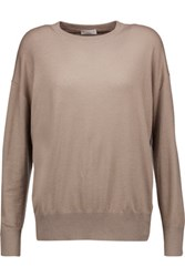 Brunello Cucinelli Metallic Cashmere Blend Sweater Taupe
