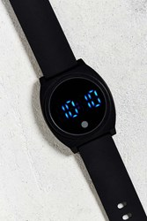 Urban Outfitters Uo Rubber Led Watch Black