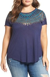 Lucky Brand Plus Size Women's Wing Graphic Tee