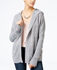 American Rag Lace Up Back Hooded Cardigan Only At Macy's Grey