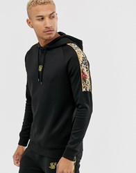 Sik Silk Siksilk X Dani Alves Hoodie In Black With Side Stripe