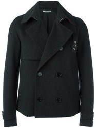 Christian Dior Homme Double Breasted Peacoat Grey