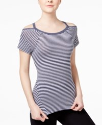 Tommy Hilfiger Sport Cold Shoulder T Shirt A Macy's Exclusive Midnight Combo
