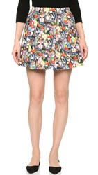 Alice Olivia Parson Lampshade Skirt Island Watercolor