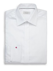 Eton Of Sweden Contemporary Fit Diamond Weave Formal Dress Shirt White