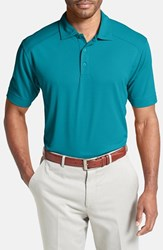 Men's Cutter And Buck 'Genre' Drytec Moisture Wicking Polo Aqua Blue