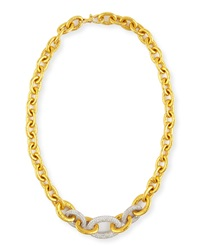 24K Tapered Galahad Necklace With Diamonds Gurhan