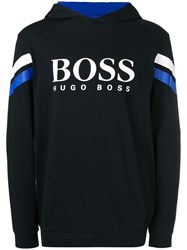 Hugo Boss Logo Hooded Sweatshirt Black