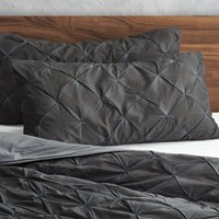 Cb2 Set Of 2 King Prisma Carbon Shams