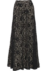 Alice Olivia Issa Embellished Lace Maxi Skirt Black