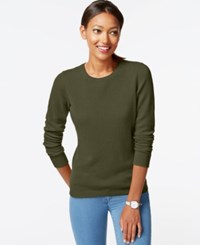 Charter Club Cashmere Crew Neck Sweater Only At Macy's Jaded Moss