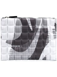No Ka' Oi Printed Quilted Pouch Grey