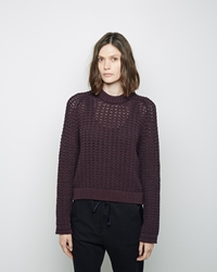 3.1 Phillip Lim Open Knit Pullover Burgundy