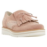 Dune Gravitie Fringed Loafers Pink