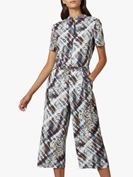 Ted Baker Balay Abstract Snakeskin Jumpsuit Dark Brown