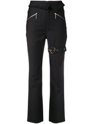 Adam Selman Foldover Buckle Detail Trousers Black