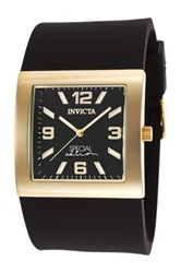 Invicta Women's Couture Special Edition Black Polyurethane Watch