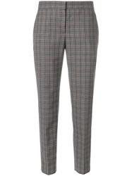 Paul Smith Plaid Cropped Tapered Trousers Grey