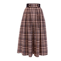 Victor Xenia London Olia Skirt Navy And Peach Gold Blue Rose Gold