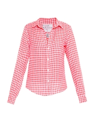 Frank And Eileen Barry Gingham Linen Shirt