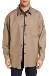 Stutterheim Men's Lerum Relaxed Fit Shirt Jacket Mole