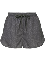 The Upside Leopard Print Shorts Grey