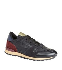 Valentino Studded Star Runner Sneakers Male Black
