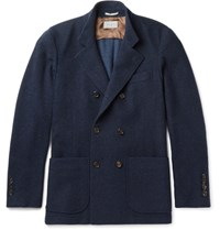 Brunello Cucinelli Double Breasted Cashmere Jacket Navy