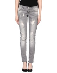 Only Denim Denim Trousers Women Grey