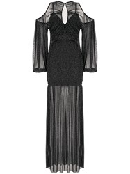 Alice Mccall Spell Cold Shoulder Gown Black
