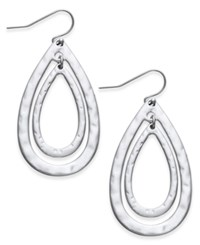 Inc International Concepts Double Oval Drop Earrings Only At Macy's Silver