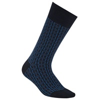 Boss Logo Boss Design Window Pane Cotton Rich Socks Blue