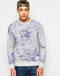 Fly 53 Sweatshirt With Skull Print Grey