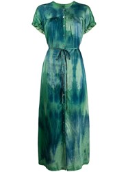 Raquel Allegra Tie Dye Side Slit Maxi Dress 60