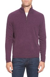 Men's Big And Tall John W. Nordstrom Quarter Zip Cashmere Sweater Purple Buds