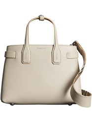 Burberry The Small Banner In Leather Nude And Neutrals