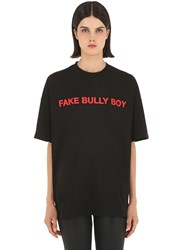 Master Number Fake Bully Boy Printed Jersey T Shirt Black