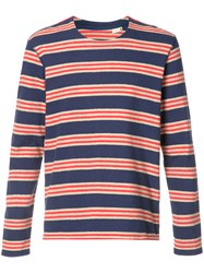 Levi's Made And Crafted Striped T Shirt Blue