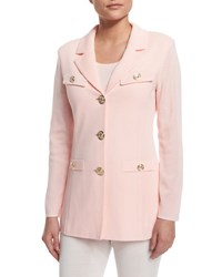Misook Dressed Up Button Front Jacket Petite Rose Water