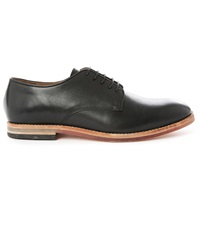 Hudson Black Hadstone Leather Derbies