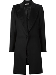 Bouchra Jarrar Peaked Laped Buttoned Coat Black