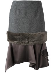 Kolor Panelled Skirt Grey