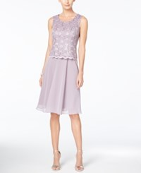 R And M Richards Petite Sequin Lace Dress And Jacket Orchid